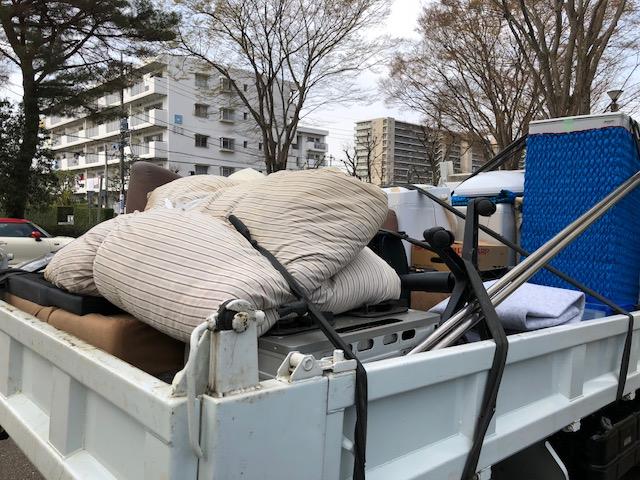 つくば市竹園で軽トラ1杯分の不用品回収 施工事例紹介2