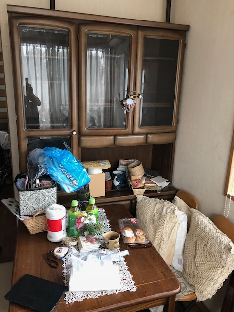 つくば市千現で婚礼ダンス、ベッド、食器棚の不用品回収 施工事例紹介