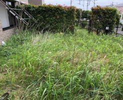 取手市片町で草刈り、草刈り後の草の回収 施工事例紹介