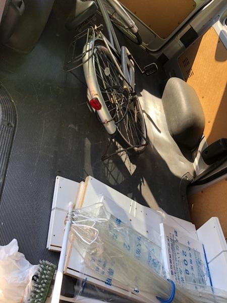 牛久市田宮町で自転車、カラーボックス、物干しざおの回収 施工事例紹介