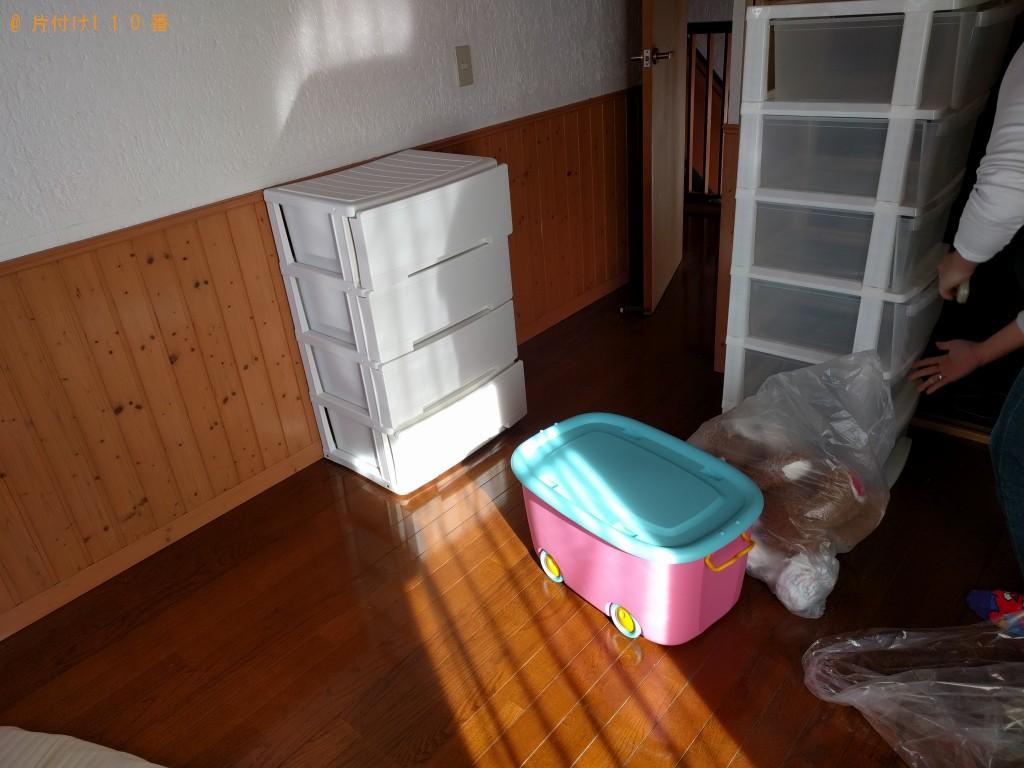 【水戸市】衣類収納ケース、カーペット等の回収・処分ご依頼