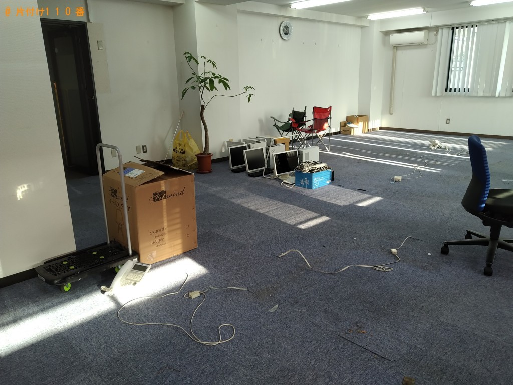 【水戸市】耐火金庫、事務机の回収・処分ご依頼 お客様の声