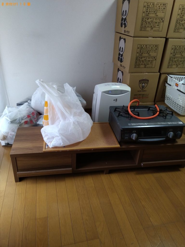 【鉾田市】ガスコンロ、シングルベッド、テレビ台の回収・処分ご依頼