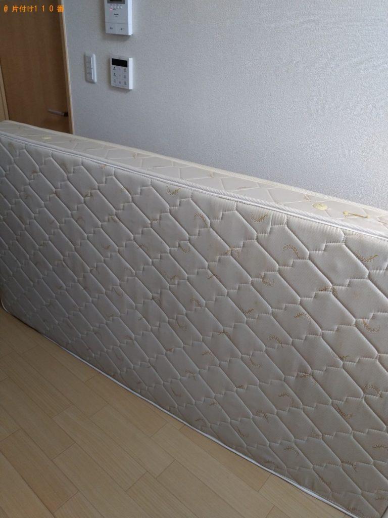 【東海村】シングルベッド、シングルベッドマットレスの回収