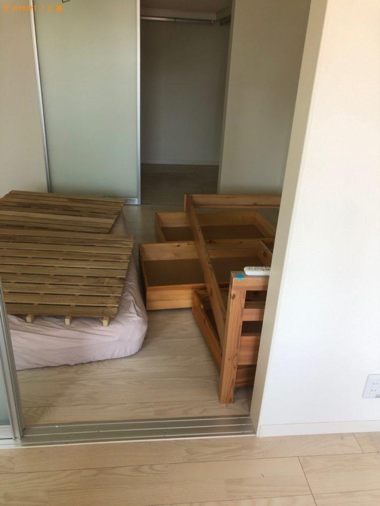 【笠間市】電子レンジ、炊飯器、カーペット、シングルベッド等の回収