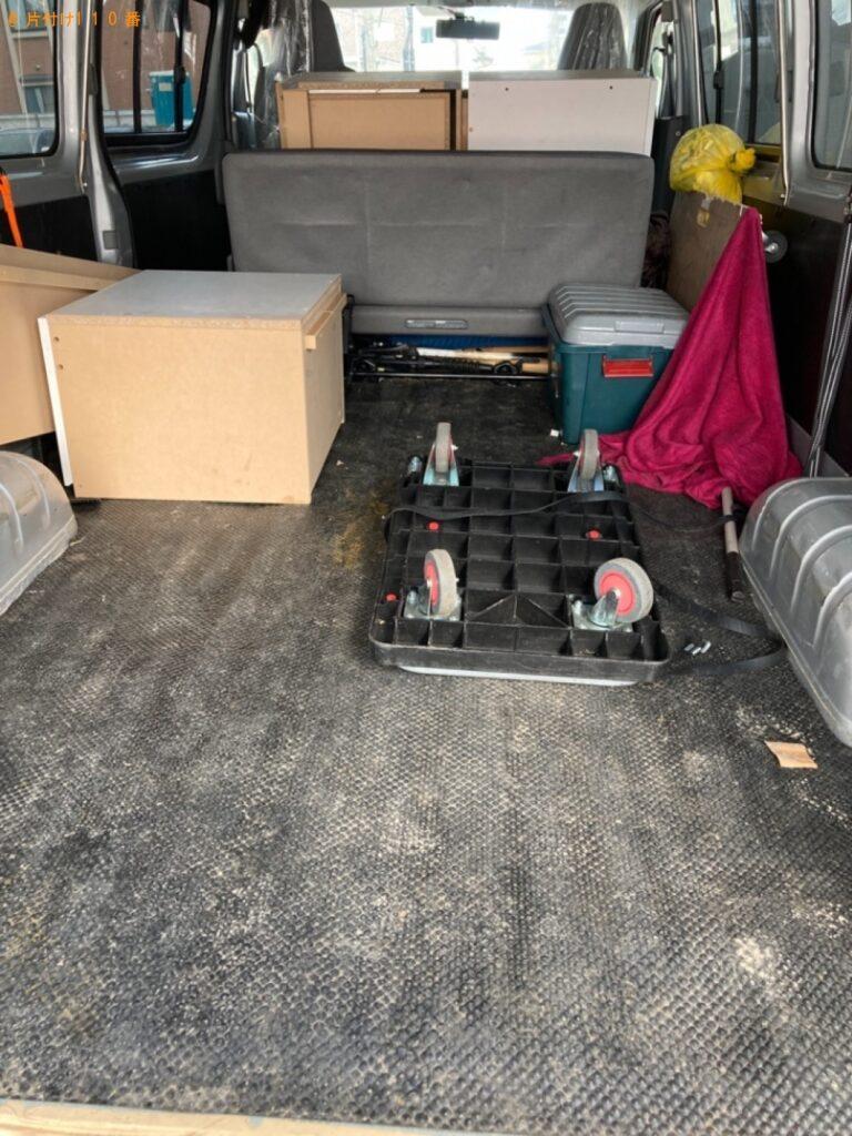 テレビ、洗濯機、こたつ、食器棚、椅子、テレビ台等の回収