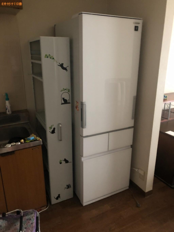 冷蔵庫、食器棚、ソファー、テーブル、椅子、ガスコンロ等の回収